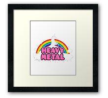 Heavy Metal Unicorn Framed Print