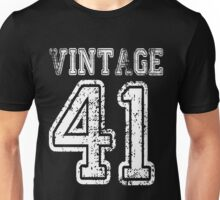Vintage 41 1941 2041 T-shirt Birthday Gift Age Year Old Boy Girl Cute Funny Man Woman Jersey Style Unisex T-Shirt