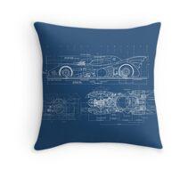 Batmobile Blueprint Throw Pillow