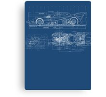 Batmobile Blueprint Canvas Print