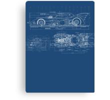 Batmobile Blueprint Canvas Print