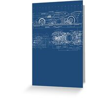 Batmobile Blueprint Greeting Card