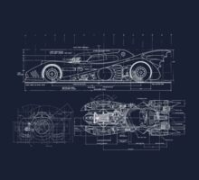 Batmobile Blueprint Kids Tee
