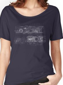 Batmobile Blueprint Women's Relaxed Fit T-Shirt