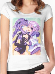 Neptune and Purple Heart Women's Fitted Scoop T-Shirt
