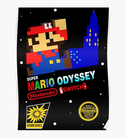 Super Mario Odyssey Switch Classic Poster