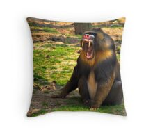 A Boring Day - Mandrill Throw Pillow