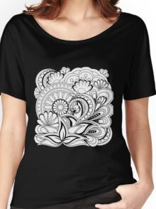 black&white zen composition  Women's Relaxed Fit T-Shirt