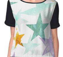 Watercolor stars Chiffon Top