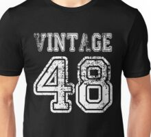 Vintage 48 2048 1948 T-shirt Birthday Gift Age Year Old Boy Girl Cute Funny Man Woman Jersey Style Unisex T-Shirt