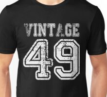 Vintage 49 2049 1949 T-shirt Birthday Gift Age Year Old Boy Girl Cute Funny Man Woman Jersey Style Unisex T-Shirt