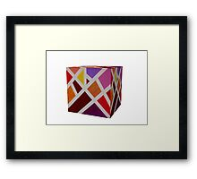 A Cube of Piet's Abstract Framed Print