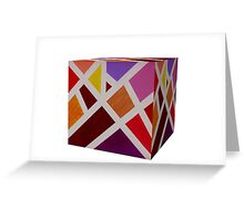 A Cube of Piet's Abstract Greeting Card