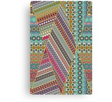 Colorful abstract tile pattern design by Somberlain Canvas Print