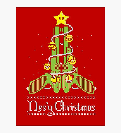 Nes'y Christmas - ugly christmas jumper Photographic Print