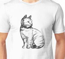 Cat hand drawn effect Unisex T-Shirt