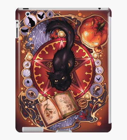 Black Cat Magic iPad Case/Skin