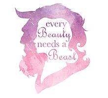 Every Beauty Needs a Beast Photographic Print