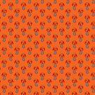 Orange Mushroom Pattern by SaradaBoru