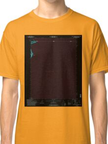 USGS TOPO Map California CA West of Willow Ranch 295730 1993 24000 geo Inverted Classic T-Shirt