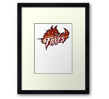 District 5 Power Foxes Framed Print