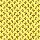 Yellow Mushroom Pattern by SaradaBoru