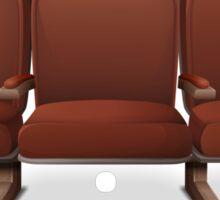 Glitch furniture bench theater chair red Sticker