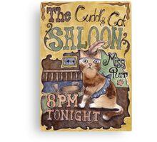 Cat Saloon Canvas Print