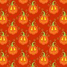 Orange Jack O Lantern Pattern by SaradaBoru
