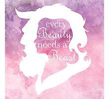 Every Beauty Needs a Beast | 2 Photographic Print
