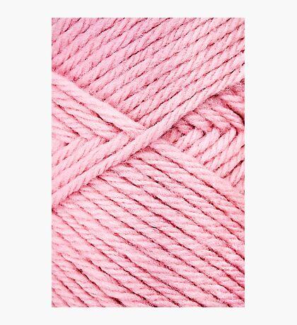Pink Yarn Photographic Print