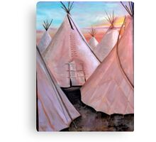 """""""Tepees at Sunset"""" Canvas Print"""