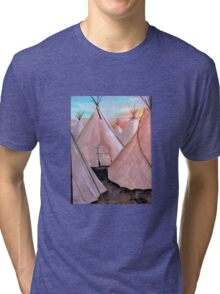 """Tepees at Sunset"" Tri-blend T-Shirt"