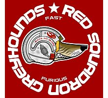 Red Squadron Greyhounds (DARK T-SHIRTS) Photographic Print
