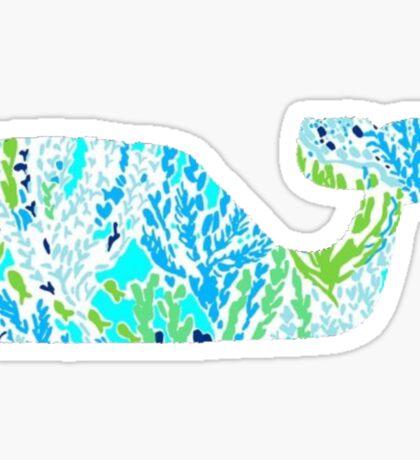 Preppy Whale Sticker