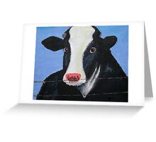 Calvin the Cow Greeting Card