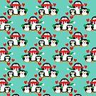 Christmas Penguin Pattern by SaradaBoru