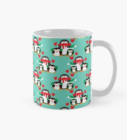 Christmas Penguin Pattern Mug