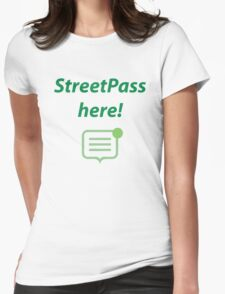 StreetPass here! Womens Fitted T-Shirt