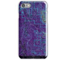 USGS TOPO Map California CA Challenge 100026 2000 24000 geo Inverted iPhone Case/Skin