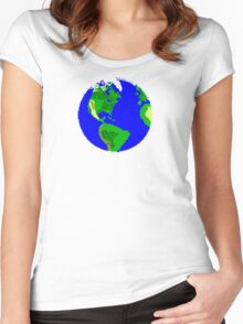 8 Bit Earth Women's Fitted Scoop T-Shirt