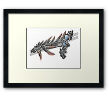 Hold on to your subligar. Framed Print