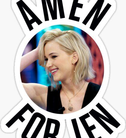 Amen For Jen - Jennifer Lawrence Sticker