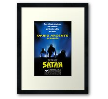 Say You Love Satan 80s Horror Podcast - Demons Framed Print