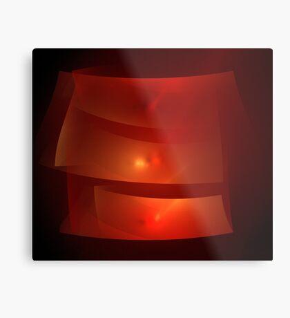 Red Ribbons Metal Print