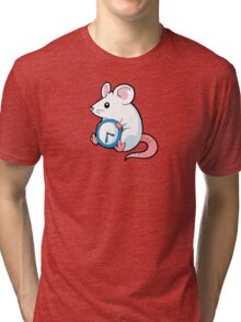 A Mouse With A Clock Tri-blend T-Shirt