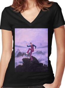 We are number one but it´s Wanderer above the Sea of Fog Women's Fitted V-Neck T-Shirt