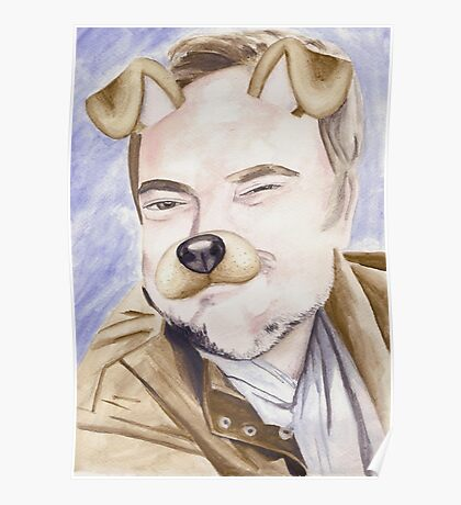 Mark Sheppard, watercolor painting Poster