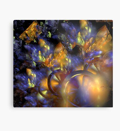 Autumn Blue Sun Metal Print