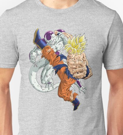 Super Saiyan (SSJ) Goku vs. Full Power Freeza (Frieza) Unisex T-Shirt